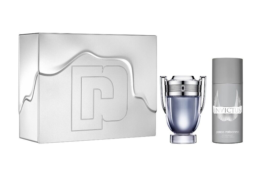 Paco Rabanne Invictus Eau De Toilette 100ml Gift Set In