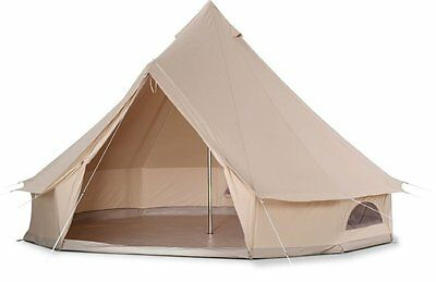 Four Season Cotton Canvas 4m Bell Tent Glamping Tent for Outdoor