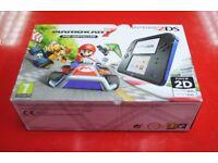 Nintendo 2DS with Mario Kart 7 Black/Blue Brand New £75