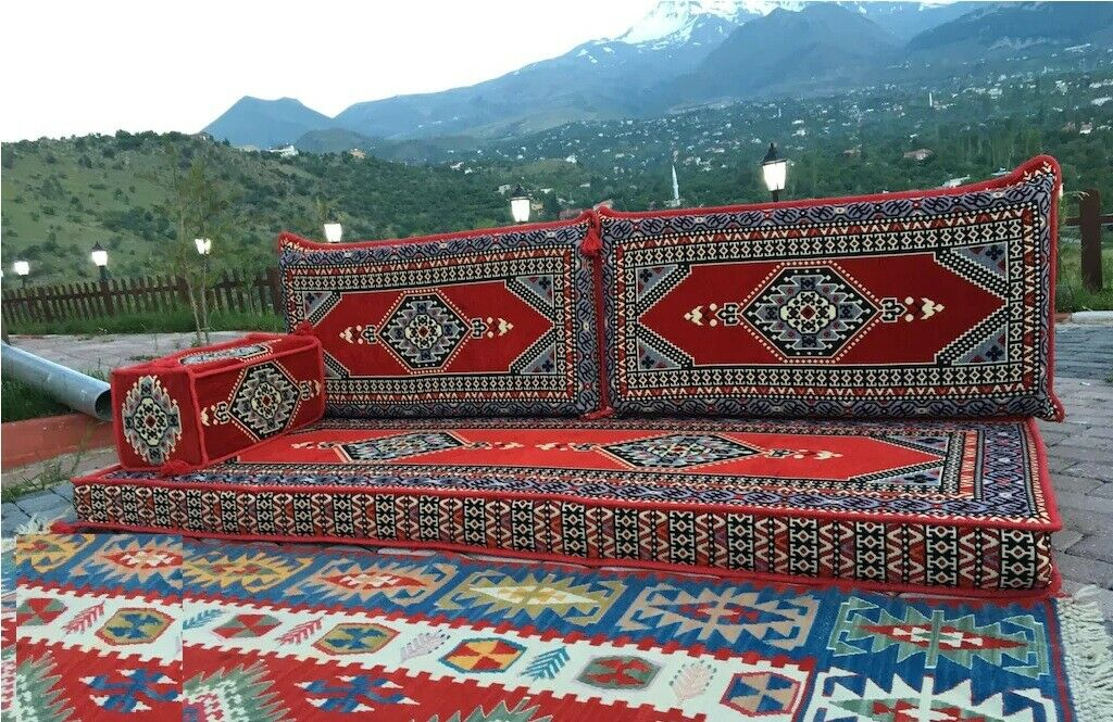 4 pcs Turkish Ottoman Cushion pillows Lounge Couch Sofa Corner Cover Set Palace 4