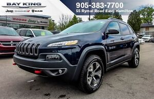 "2016 Jeep Cherokee TRAILHAWK 4X4, SUNROOF, BACKUP CAM, 8.4"" DISP"