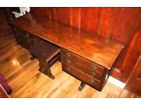 Solid Wooden Double Sided Dressing Table With Stool