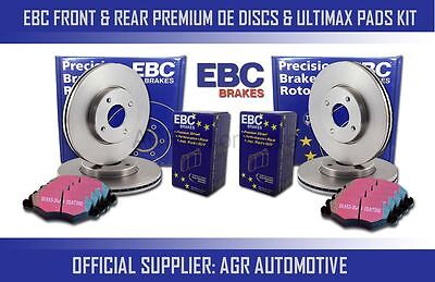 EBC FRONT + REAR DISCS AND PADS FOR AUDI Q3 1.4 TURBO 150 BHP 2014-