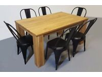 Wood dining table-100% solid oak wood