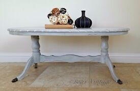 Grey Vintage Coffee Table - Shabby Chic - Reduced