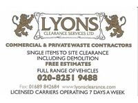 LYONS CLEARANCE SERVICES LTD - Domestic and Commercial Clearance Specialists for over 20 years