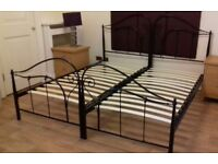 Metal Double Bed can be split into Two Single Beds