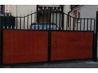 Driveway wrought iron gates