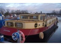 Widebeam Dutch Barge Houseboat 60ft
