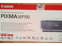 Canon All in one photo printer pixma mp190 + 2 ink Cartridge (Black and Colour)