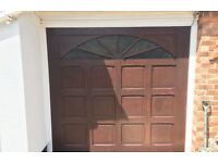 Motorized Fibreglass Garage Door set