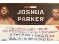 4 off Anthony Joshua vs Joseph Parker Fight Floor Tickets