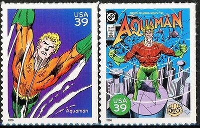 Aquaman Complete Set of 2 Scarce MNH US Postage Stamps Scott's 4084h & 4084r