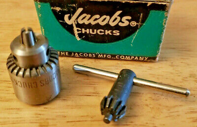 Nos Jacobs 0 Precision Bearing Chuck 0- 532 Jacob Taper Mount New In Box