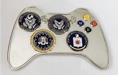 CIA NCS SOG ODNI NCTC FBI Drone UAV Video Game Controller Challenge Coin XBOX !!