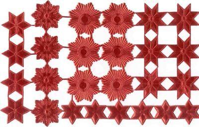 Scrap Die cut German Dresden Red Foil Paper Stars Victorian Crafts](Red Paper)