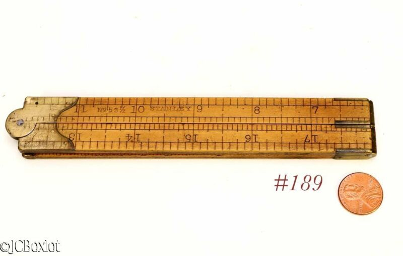 old antique STANLEY TOOLS 53 1/2 ARCHITECT RULE RULER woodworking