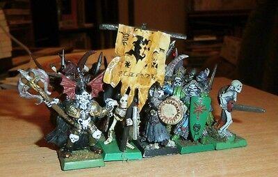 Warhammer Fantasy Vampire Counts 20 METAL Skeleton Warriors ROUGE TRADER 198OS
