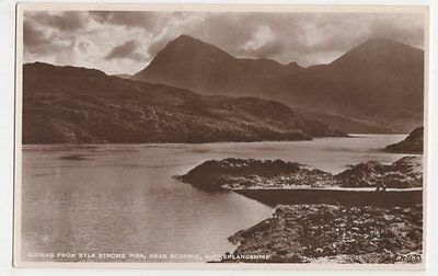 Quinag from Kyle Strome Pier, nr. Scourie, Sutherland RP Postcard, B321
