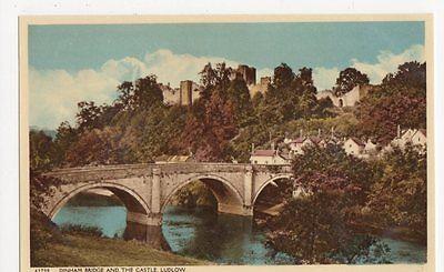 Dinham Bridge & The Castle, Ludlow Postcard, B113