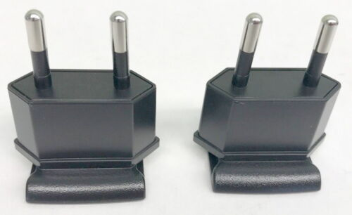 2x Europe Eu Clip Plug-in Adapter For Cisco Linksys Pa100 Power Supply
