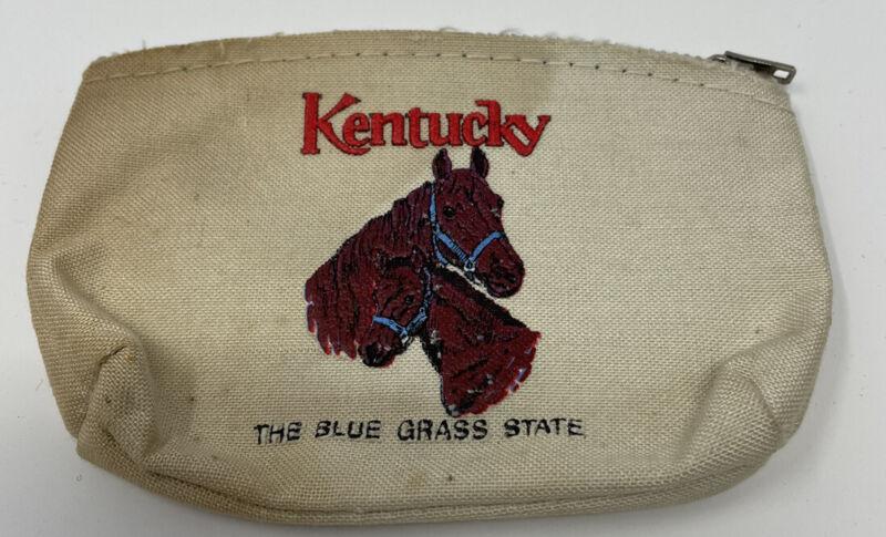 Kentucky Horse Blue Grass State VINTAGE Coin Purse Change Souvenir