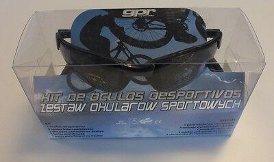 gpr Eyeware Sportbrille inkl. Zubehör UV400 3-Wechselscheiben Gestell Schwarz