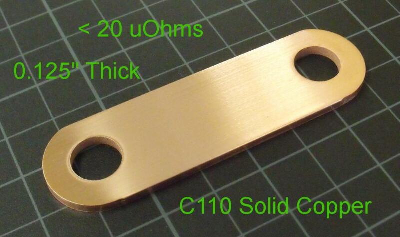 Low-Z Copper Strap for Maxwell Ultra Capacitor Farad BCAP P270 K04,< 20uOhm