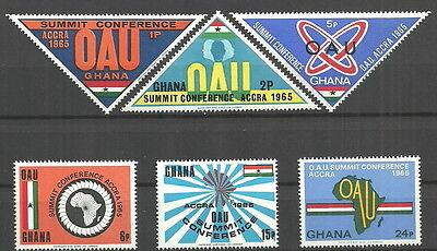 Ghana - Gipfelkonferenz OAU Satz postfrisch 1965  Mi.Nr. 237-242