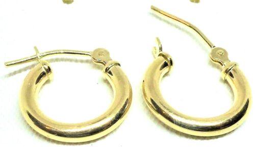 10Kt Yellow Gold 2 X 16MM Hoop Earrings Gift Box FREE SHIPPING!1