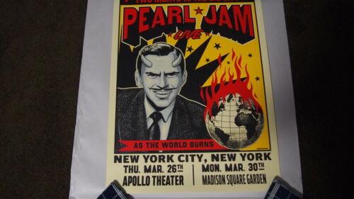 Pearl Jam Poster - New York City - Ian Williams - SE - Apollo MSG 2020