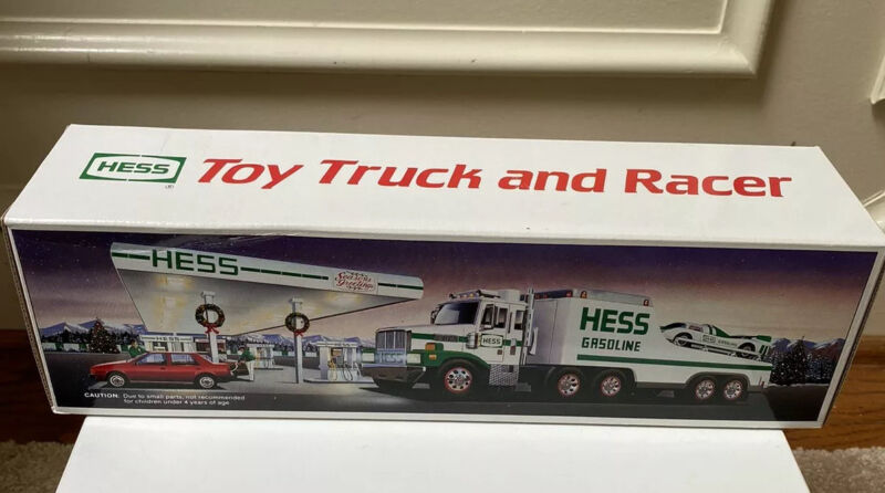 Vintage Mint In Box, 1988 Hess Toy Truck And Racer