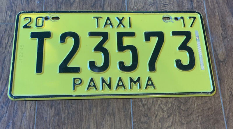 2017 Panama Taxi License Plate #T23573
