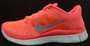 Nike-Free-Run-3-WOMENS-Running-Shoe-Run-510643-600-Hot-Punch-Silver-Volt