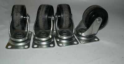 Lot Of 4 Faultless 400-3 Caster Wheels With Plates Wheel Approx. 3 X 1.5