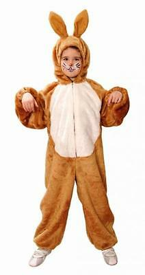 Hase braun Kinder Gr. 116-164 Hasenkostüm Overall Kostüm Fasching Karnval ()