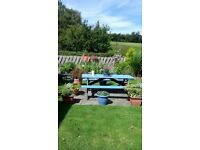 Consal 2 bedroom static caravan, quiet site, fishing, bowls, views front and rear, garden, stream.