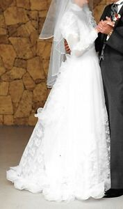 Full length wedding dress