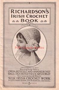 Richardsons-Irish-Crochet-Book-Victorian-Bag-Reticule-Hat-Jabot-Patterns-on-CD
