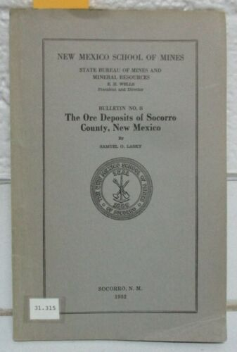 1932 Gold Mines Mining Geology USGS Ore Deposits, Socorro County, New Mexico