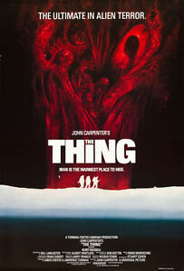 THE THING Large U.K film poster JOHN CARPENTER - KURT RUSSELL