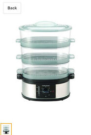 Morphy Richards Stainless Steal Food Vegetable Steamer 43755 New