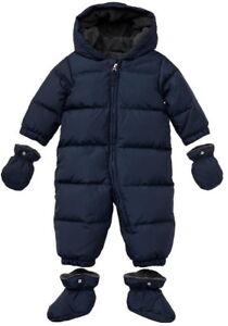 "Baby Gap - Boy's 6-12m Navy Blue ""Warmest Puffer Snowsuit"" - $30"