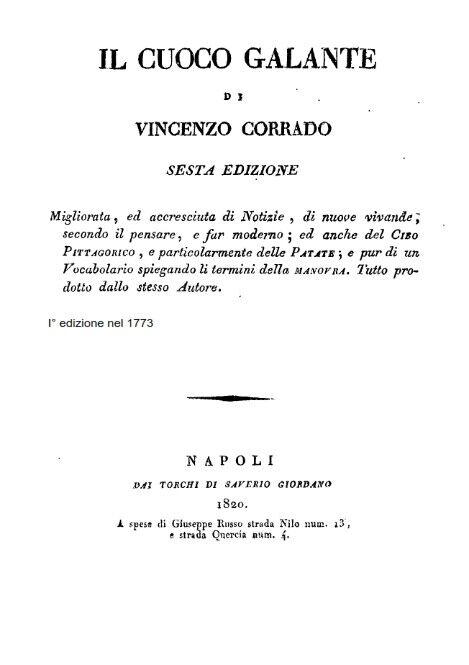 Il cuoco galante - Vincenzo Corrado