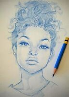 LF female and male models for sketch artist