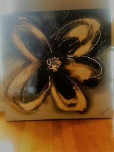 Modern Canvas Flower Painting