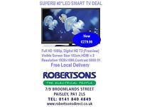 """SUPERB 40"""" LED SMART TV DEAL"""
