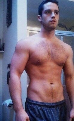 Shirtless Male Beefcake Muscular Jock Hunk Hairy Chest Abs Body PHOTO 4X6 F1425