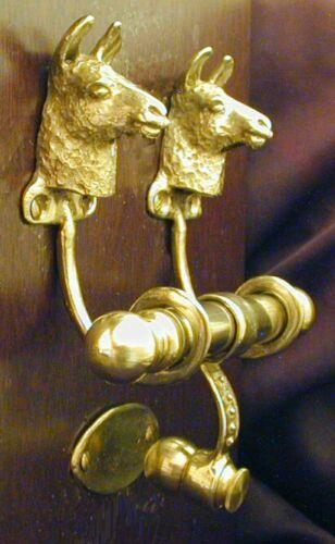 LLAMA Bronze DUET Door Knocker