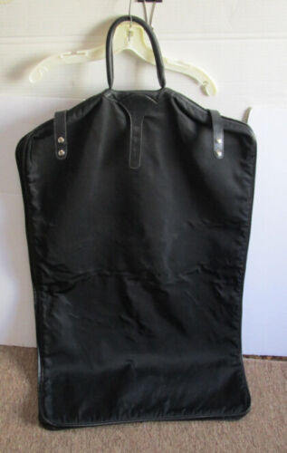 Roots Folding Black Garment Carry Bag Luggage w/ Handle Made in Canada